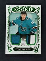 2018-19 UD Artifacts Materials Emerald Jersey Rookie #169 Dylan Gambrell /99