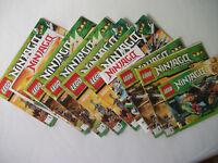 Orig.LEGO NINJAGO -  Konvolut -  10 GEBRAUCHS u.BAUANLEITUNGEN - SAMMELHEFTE neu