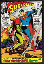 """Superman #205 ~ """"The Man Who Destroyed Krypton!"""" ~ 1968 (7.0) WH"""