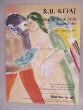 R.B. Kitaj Art Gallery Exhibit PRINT AD - 2005