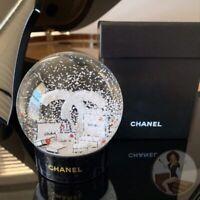new+box: Chanel 2019 Rare Authentic VIP Holiday Snow Globe CC w/ Bag Collectible