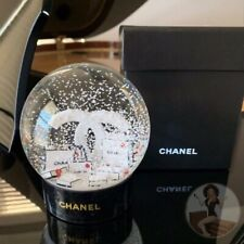 New! CHANEL 2019 Authentic Holiday Snow Globe + Cosmetic Bag Bonus Gift