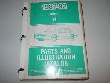 1987 88 89 90 91 92 Pontiac Bonneville Parts And Illustration Catalog May 1992
