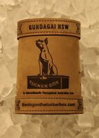 The Dog on the Tuckerbox Deluxe Leather Stubby Holder