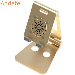 Desktop Ipad Mobile Phone Holder W/Cooling Fan Flat Panel Bracket Base Stander