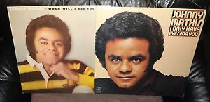 """Johnny Mathis - When Will I See You Again & I Only Have Eyes For You 12"""" LPS x 2"""