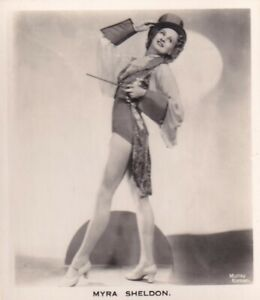 MYRA  SHELDON - carreras  MOVIE film stage PIN-UP/CHEESECAKE 1939 cig card