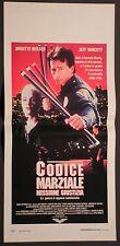 Locandina CODICE MARZIALE MISSIONE GIUSTIZIA 1°ED.IT.1992 BRIGITTE NIELSEN EAGLE