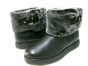 UGG CLASSIC BERGE MINI WOMEN BOOTS LEATHER BLACK US 9 /UK 7 /EU 40