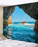 Cave Sea Art Print Tapestry Hippie Room Bedspread Wall Hanging Throw Tapestry