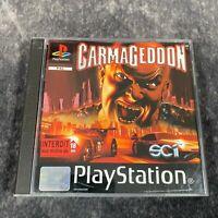 Carmageddon PS1 PlayStation 1 PAL Game Complete Vehicle Combat Black Label