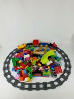 Lego Duplo Lot Train, Brick, characters, houses, bases and Track 150 Plus Pieces