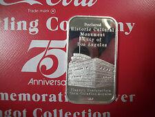 999 1 TO FINE SILVER INGOT BAR COCA COLA COKE LOS ANGELES, CALIFORNIA 75TH ANN