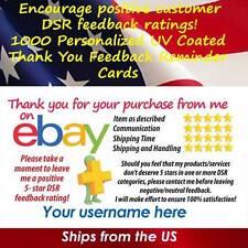 1000 UV GLOSS CLASSIC DESIGN eBay CUSTOM 5 STAR DSR SELLER THANK YOU CARDS
