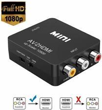 RCA auf HDMI Adapter AV auf HDMI Konverter AV zu HDMI Adapter 1080P mit USB Lade