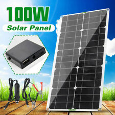 100W Solar Panel Fold Portable folding Charger USB Camping Charge + Controller