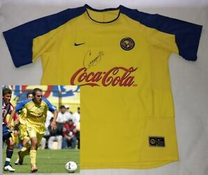 2003 2004 Club AMERICA jersey hand signed autographed by Cuauhtemoc Blanco PROOF