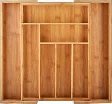 Best Utensil Drawer Organizer Bamboo Expandable Silverware Holder Kitchen Tray!