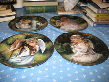 First 4 Collectible Plates Donna Brooks Heaven's Little Sweethearts Gift Quality