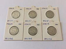 Suite de 6 pièces de 10 lires en aluminium 1951 à 1956 TTB