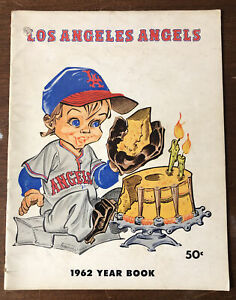 1962 Los Angeles Angels Yearbook 44 Pages MLB Baseball Yearbook