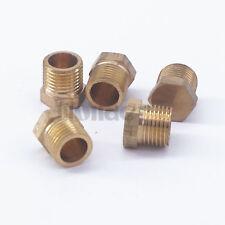 "5pcs 1/8"" BSP Male Brass Countersunk Plug Hex Head Socket Pipe Fittings"