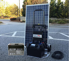 1200W Portable Solar Electric Generator Kit with 100W panel and 100 Ah Battery