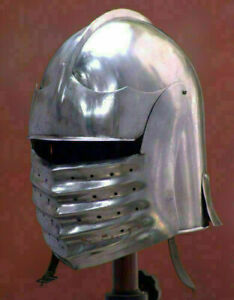 Medieval Knight Collectible Style Armor SCA LARP Close Tournament Helmet
