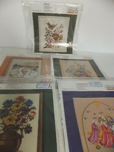 OEHLENSCHLAGER DESIGN Counted Cross Stitch Charts Lot of 5 Vintage