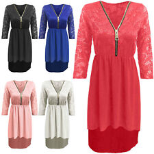 Polyester V Neck Petite Dresses for Women
