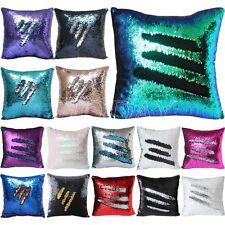 "16"" Magic Mermaid Pillow Case Reversible Sequin Glitter Sofa Cushion Cover Touch"