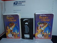 2 1992 BEAUTY AND THE BEAST VHS RARE WALT DISNEY BLACK DIAMOND CLASSICS 1 NEW