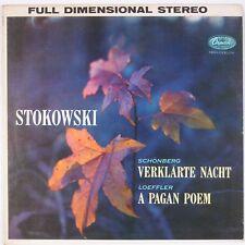 STOKOWSKI: Schonberg, Loeffler Pagan Poem CAPITOL Orig 50s Stereo SP8433 LP NM-