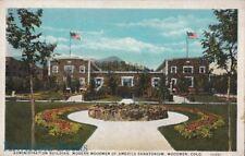 Postcard Admin Building Modern Woodmen America Sanatorium Woodmen Co