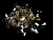 100 Pcs - 11mm Silver Plated Spring Pinch Bails Jewellery Craft  Findings XX185