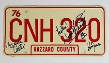 John Schneider Ben Jones Autograph Signed Dukes of Hazzard License Plate Proof