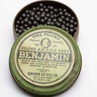 Vintage Benjamin Air Rifle lead BB Shot Tin Partial .22