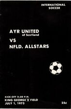 More details for 1973 newfoundland all stars v ayr united (friendly)