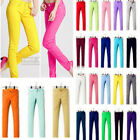 Women Stretch Candy Color Pencil Pants Slim Skinny Jeans Basic Trousers Leggings