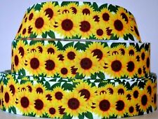 """Grosgrain Ribbon 3/8""""7/8"""" 1.5"""" 3"""" Floral Sunflowers Flowers Mother's Day Printed"""