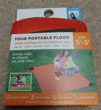Monkey Mat 5' x 5' Orange Outdoor Picnic Blanket with Pouch Water Repellent