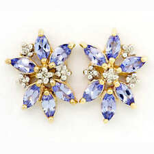 Butterfly Tanzanite Cluster Natural Fine Earrings