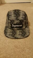 Supreme 5 Panel Camp Cap peau de serpent Tnf north face