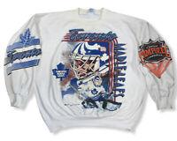 Vtg 1992 Toronto Maple Leafs NHL Men's Double Sided Sweatshirt Sz 2 Fits XL/XXL