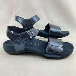 Vionic Women's Marsala Metallic Adjustable Sandals Blueberry US 6W