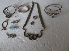 - Bracelets & More Must See These! Fabulous Lot Of 11 Pieces Of Snake Jewelry