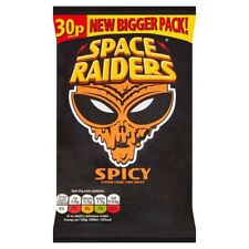 Space Raiders Spicy Flavour Cosmic Corn Snacks 25g Case Of 36