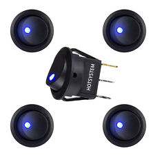 5x HOTSYSTEM LED Dot Light 12V Car Boat Round Rocker ON/OFF TOGGLE SPST Switch