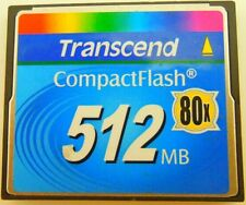 512MB Transcend Compact Flash CF Industrial 512M Memory Card 100% Genuine 80X