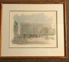 """Sir Hugh Casson Litho Titled """"Royal Academy Of Arts"""" Burlington House London"""